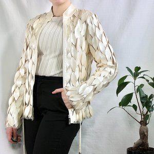 Frank Lyman Design White/Cream Leaf Jacket